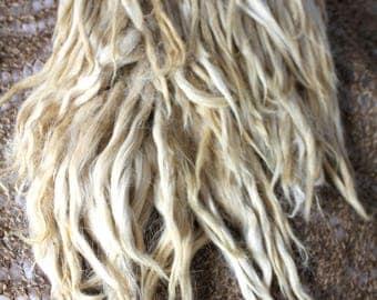 Long Suri Alpaca locks for doll hair