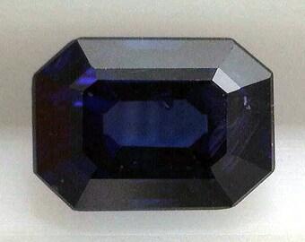 Sapphire Blue 1.35/ Natural/Emerald Cut /AGL Report/Loose Sapphire