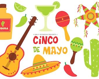 Cinco De Mayo, Fiesta, Mexico - Cute Clipart, Clip Art - Commercial Use, Instant Download