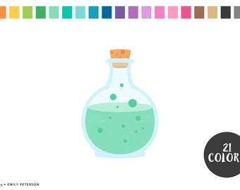 Potion, Love Potion, Halloween - Cute Clipart, Clip Art - Commercial Use, Instant Download