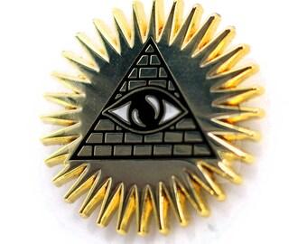 Pyramid & Eye - Occult Enamel pin