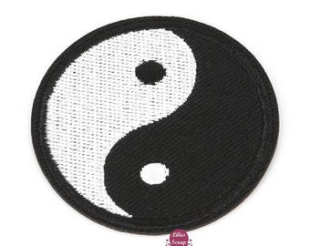 Large embroidered patch Yin Yang tai chi patch Thermo 9.5 cm