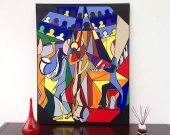 acrylic painting music show