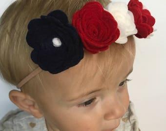 Patriotic Flower Headband