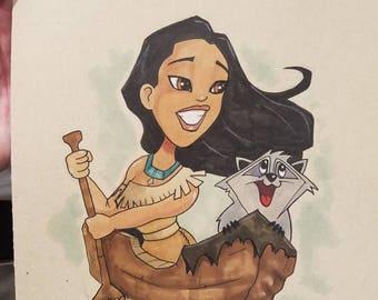Pocahontas Original Art