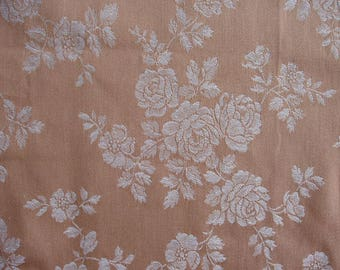 Beige fabric with flowers