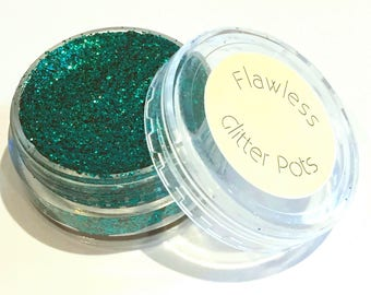 Teal Pressed Glitter Eyeshadow Pot - Mermaid's Tail