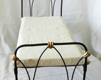 "Artisan Made American Girl 20"" Scale Wrought Iron Look Bed ""Angie"""