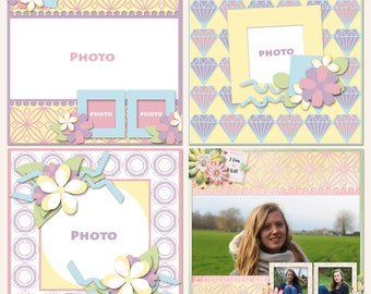 Outline Odyssey Digital Scrapbooking Templates
