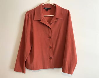 Briggs New York Womens Blazer Orange New condition PL Petite Large Business casual High end jacket Fall jacket New York fashion