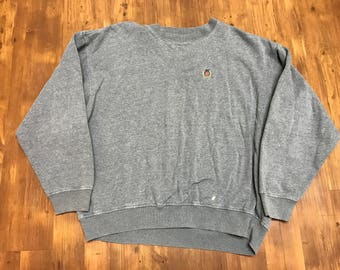 Vintage Tommy Hilfiger sweater 90's Grey sweater casual vintage designer crewneck