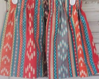Boho Aztec Native Print Skirt Girls Baby Toddler Birthday