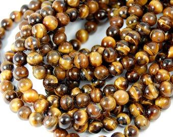 "Two 15"" strands Tigereye Beads 8mm Grade A"