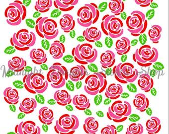 3-pc Rose Background