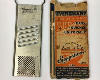 Vintage Eversharp Vegetable Grater Slicer Cutter Original Box ca 1950