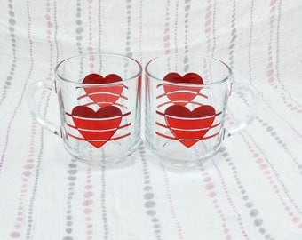 Luminarc Heart Coffee/Tea Mugs, Set of 2