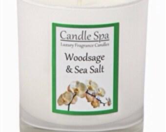 20cl (120g) candle - Woodsage & Sea Salt