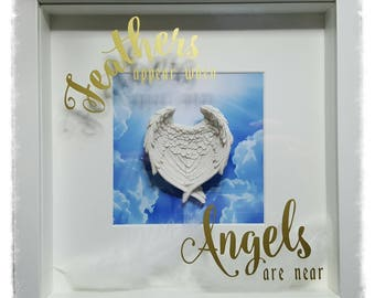 Angel Wing Memorial Box Frame