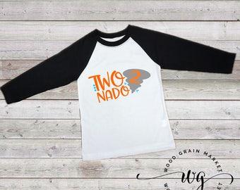Two Nado birthday shirt, boys 2nd birthday shirt, Raglan 3/4 sleeve t-shirt