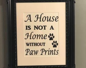 "Framed Art ""A House"""