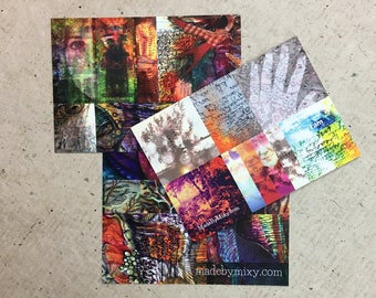 Set of 3 Art Postcards