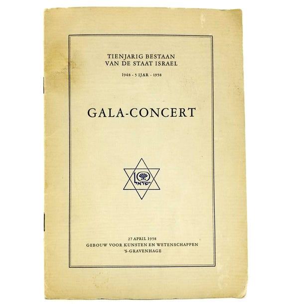 Tienjarig Bestaan Van de Staat Israel Gala-Concert aangeboden door De Nederlandse Zionistenbond 27 April, 1958 - 10th Anniversary Program