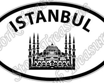 Istanbul Turkey Blue Mosque Turkish Car Bumper Vinyl Sticker Decal