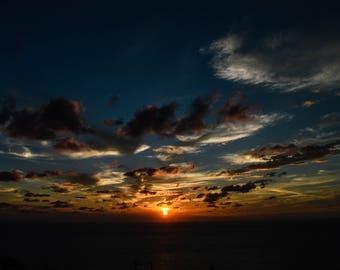 """8 x 12"""" of Zakynthos Sunset Photographic Print"""