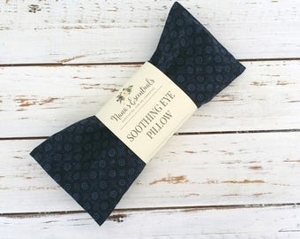 FREE SHIPPING-Aromatheraphy-Spa like-Cotton-Removable Cover-Flax Seed-Peppermint/Lavender-Essential Oil-Eye Pillow
