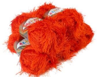 5 x 100g fringes yarn alize DECOFUR, #89 Terra