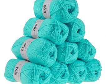 10x 50g knitting yarn eko fil, #087 Pacific