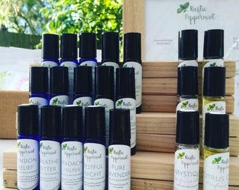 Aromatherapy Roller Balls, Natural Perfume Roller Ball, Roller Ball, Aromatherapy products, Sleep Better, natural headache remedy