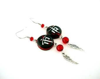 Single model - Chinese lanterns - earrings.