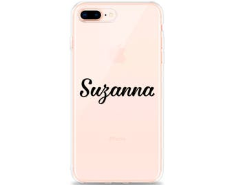 CLEAR iPhone Case with Design, NAME iPhone 8 Plus Case iPhone 7 Plus Case iPhone X Case iPhone 8 Case iPhone 7 Case iPhone 6s Case iPhone SE