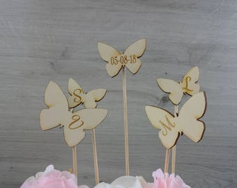 """Family Cake Topper """"Butterflies"""" / Wedding / Family"""