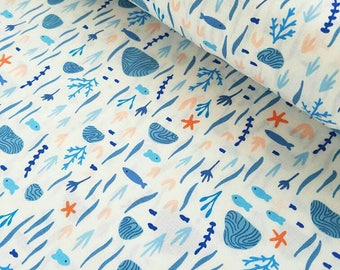 FISH CRIB BEDDING. Sea life crib bedding. marine crib bedding. marine crib sheet. fish baby blanket. mermaid baby bedding
