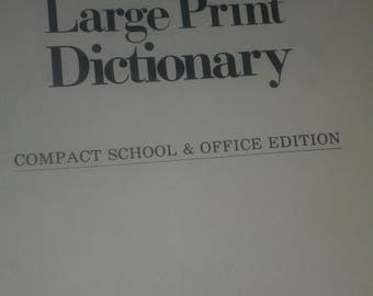 Vintage Webster's New World Large Print Dictionary ~ Ships FAST and FREE!!