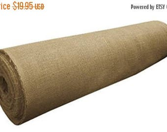 """ON SALE 40"""" Wide 100% Natural Jute Upholstery Burlap - 5 YARDS"""