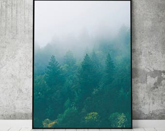 Forest Print, Scandinavian Print, Nordic Modern Minimalist Art, Home Wall Decor, Poster Minimal, Instant Download, Scandi, Nature Photo