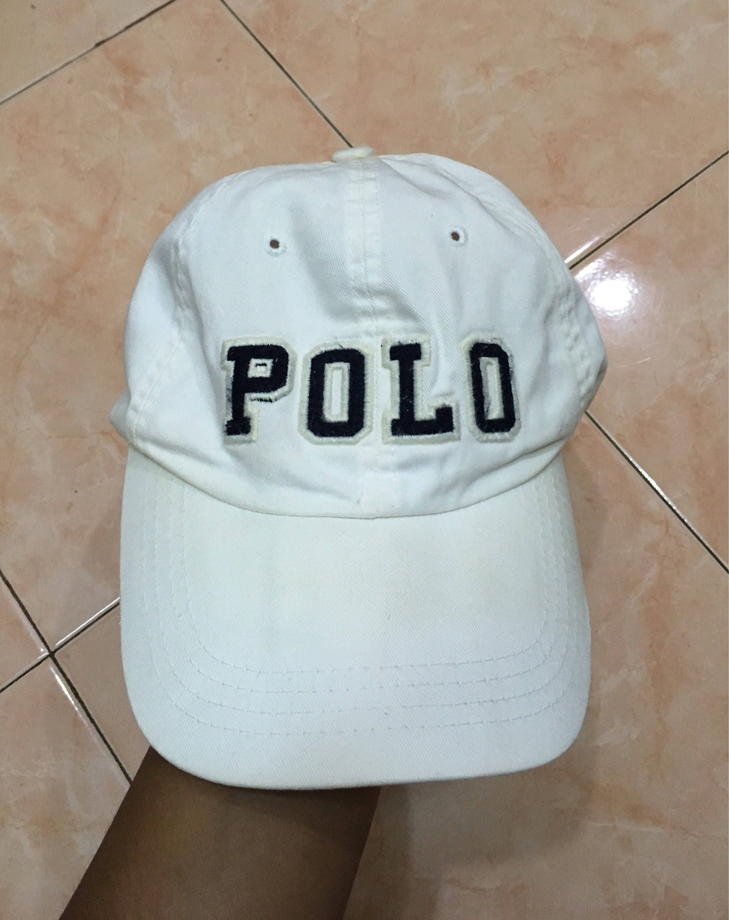 c25c1ee8924 Vintage 90s Polo by Ralph Lauren spell out big logo hat cap spell out big  logo