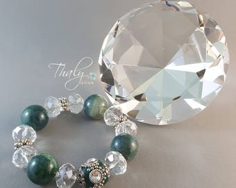 Indy green agate crystal clear