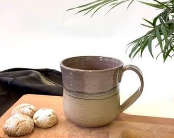 Ceramic mug, one of a kind mug, pottery mug handmade, ceramic coffee mug, rustic mug, coffee lovers gift , tea cup