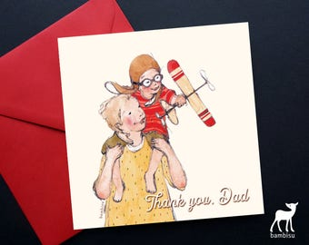 Father's Day Card - Father's Day - Greeting Card - Bible Card - Christian Card - Thank You Dad - Love Dad