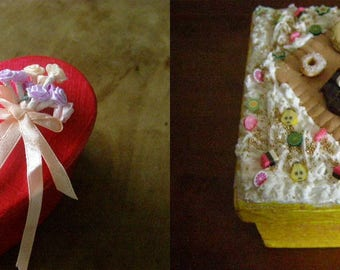 to choose from, box square or heart