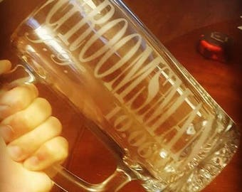 Custom etched beer mugs - Groomsmen gift