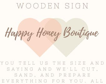 Make it Your Own DIY Wooden Sign Kit on Ivory Colored Painted Wood