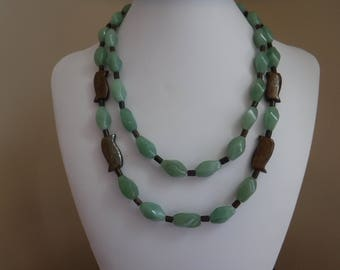 Jade and Bronzite Multistrand Necklace