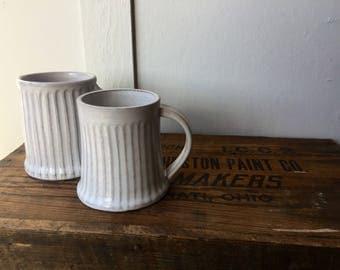Carved White Mugs (12-14 oz)