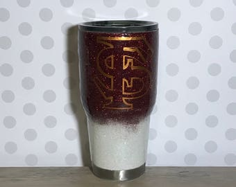 FSU ombre tumbler/ ombre glitter tumbler/ glitter dipped/ custom tumbler/ personalized tumbler/ glitter tumbler