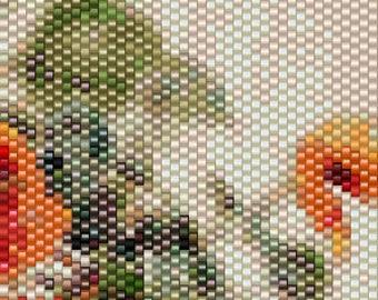 Peyote Pattern - Floral 9